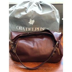NWOT Ora Delphine leather Elle hobo bag in sable